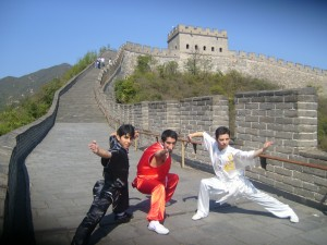 Wushu at the great wall